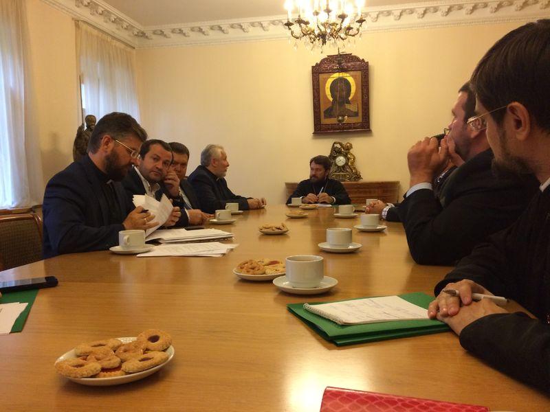 Представители Консультативного Совета протестантских церквей России встретились с митрополитом Иларионом